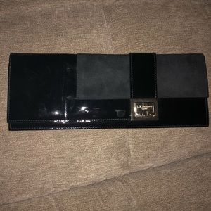LK Bennett Black Leather Clutch
